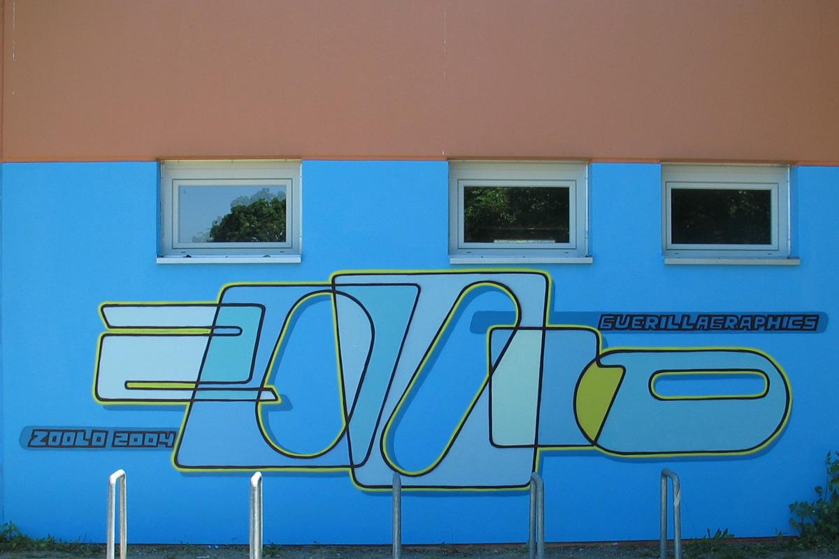Graffiti Freiburg, Auftragsarbeiten, professionelles Graffiti