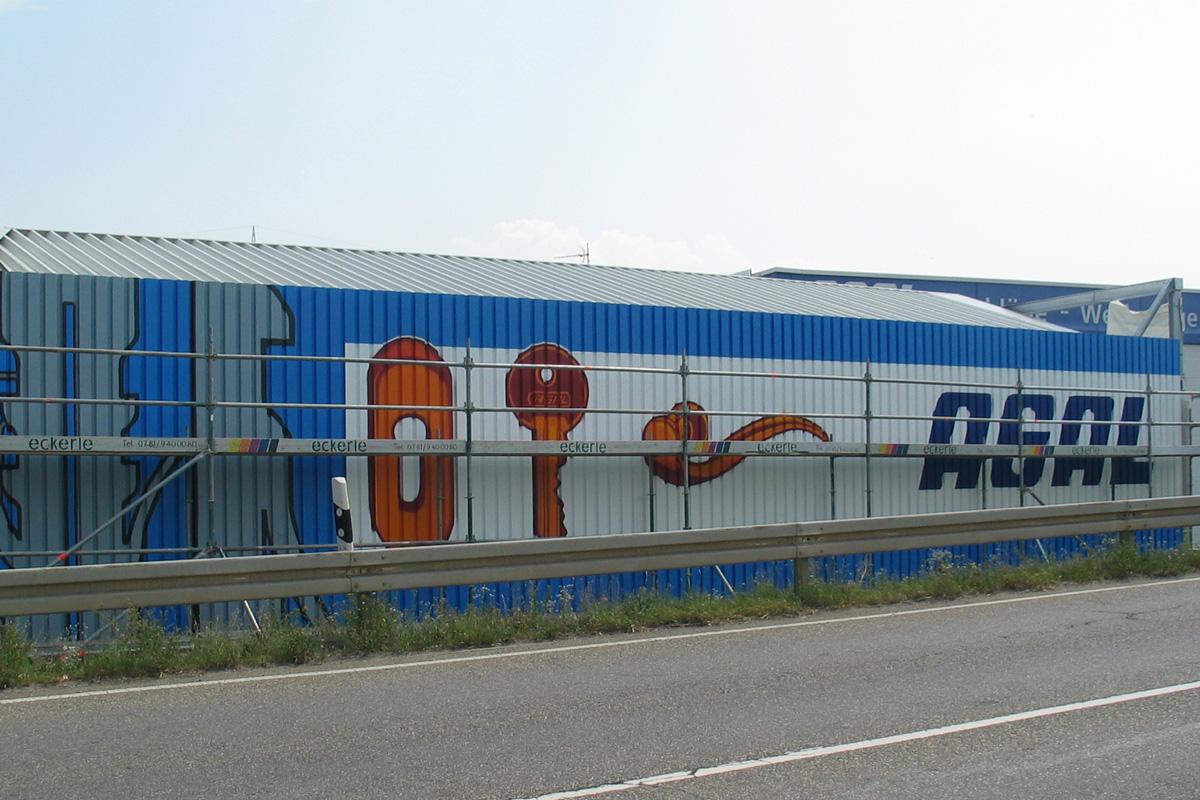 Fassadengestaltung, Fassadengraffiti, Graffitigestaltung Freiburg, Graffitigestaltung Offenburg