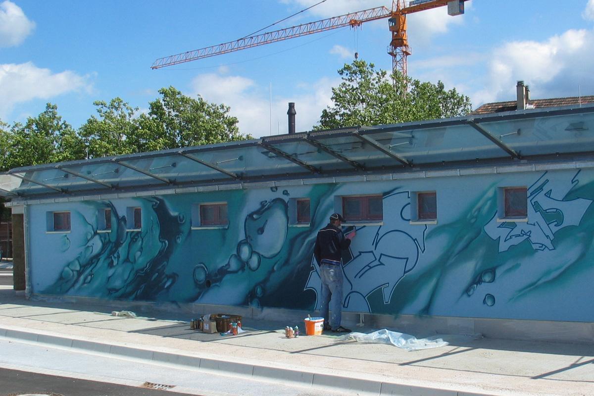 Graffiti von zoolo, Andreas Ernst, fudder.de, legales Graffiti, Graffitiauftrag