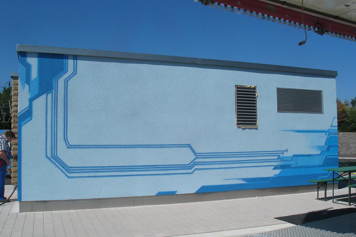 Graffitiauftrag zoolo, Graffitigestaltung zoolo, Wandgestaltung, Auftragsarbeit zoolo, Graffitigestaltung freiburg, Graffiti in Freiburg
