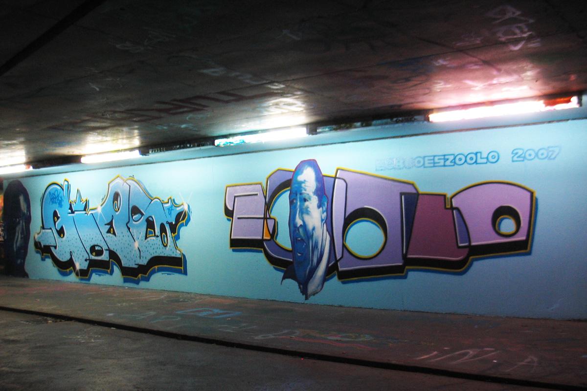 Wandgestaltung, inzoolo, Graffitiauftrag, Graffiti Freiburg, Graffitigestaltung Freiburg