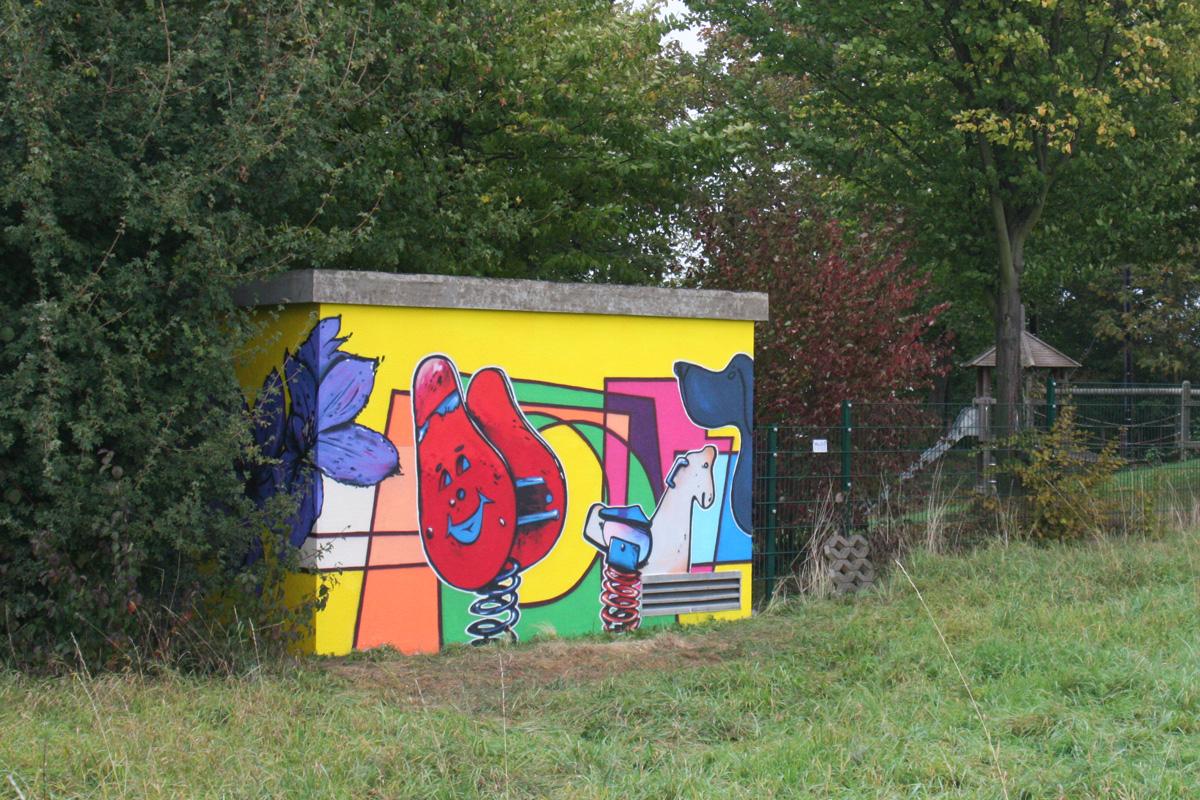 Graffiti an Trafostation von zoolo, Graffitigestaltung aus Freiburg