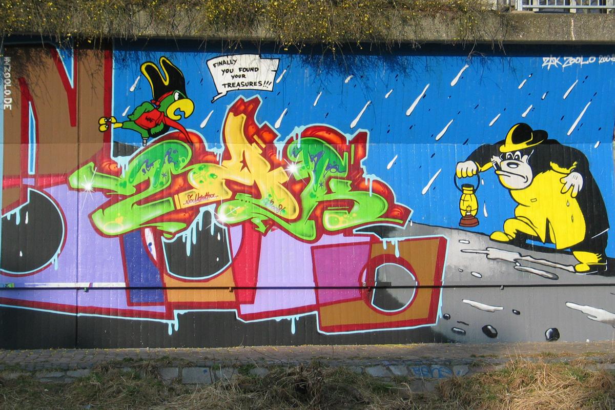 Graffiti, Graffiti Freiburg, Graffiti legal, Graffitikurs, Graffitiworkshop, Graffiti workshop, Graffiti Kurs, Auftragsgraffiti, legale Sprüher Freiburg, inzoolo, zoolo, Andreas Ernst, Graffitigestaltung Freiburg, Fassadengestaltung, Wandgestaltung