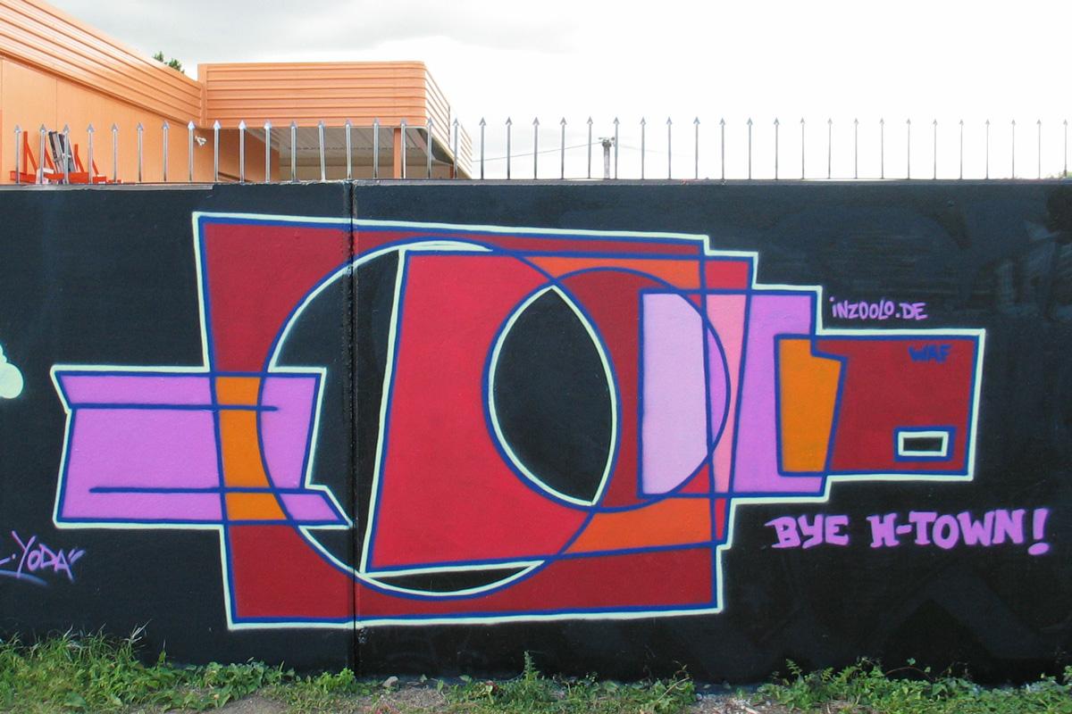 Graffiti von zoolo, inzoolo, Graffitiauftrag